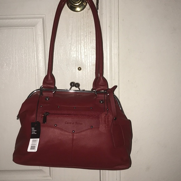 72b1b2e4dfa72 Casa do Borse genuine Leather satchel